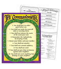 Ten Commandments Learning Chart 17\u0022x22\u0022 6pk