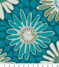 Robert Allen @ Home Print Swatch 55\u0022-Tactile Flora Turquoise