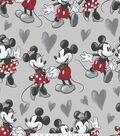 Disney Mickey & Minnie Mouse Fleece Fabric -Vintage Fun
