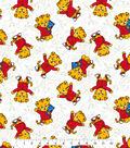 Disney Junior Daniel Tiger Cotton Fabric -Outline on White