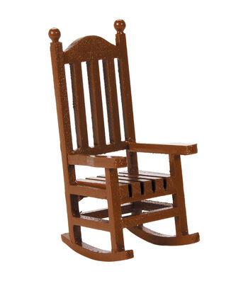 Timeless Miniatures-Wood Rocking Chair