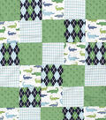 Nursery 3D Patchwork Fabric 44\u0027\u0027-Little Gentleman