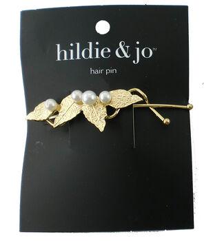 hildie & jo Leaves Hair Pin-Gold