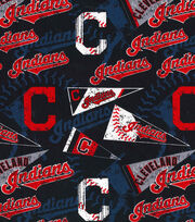 "Cleveland Indians Cotton Fabric 58""-Vintage, , hi-res"