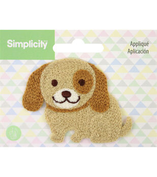 Simplicity Dog Baby Sew-on Applique-Brown