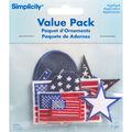Patriotic Iron On Applique Pack, 8 pcs