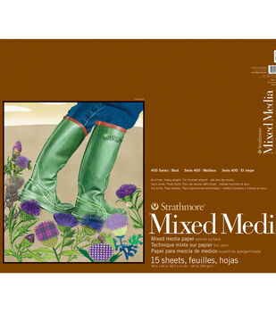 """Strathmore Mixed Media Vellum Paper Pad 18""""X24""""-15 Sheets"""