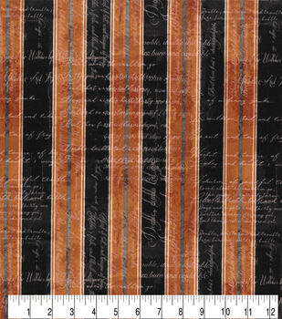 Halloween Cotton Fabric-Striped Witches Spell