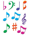 Musical Notes Accents 30/pk, Set Of 6 Packs