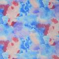 Soft & Minky Fleece Fabric-Blue Purple Watercolor