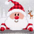 Santa In A Plaid Hat Cushion Cross Stitch Kit
