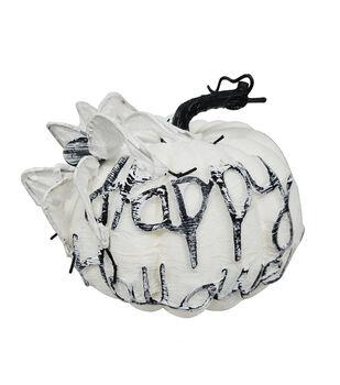 Maker's Halloween Large Spooky Fashion Pumpkin-Happy Halloween
