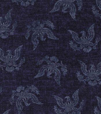 Patriotic Cotton Fabric 43''-Blue Eagle Seal