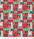 Christmas Cotton Fabric-Holiday Word Blocks