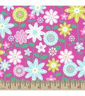 Snuggle Flannel Fabric -Flower Meadow