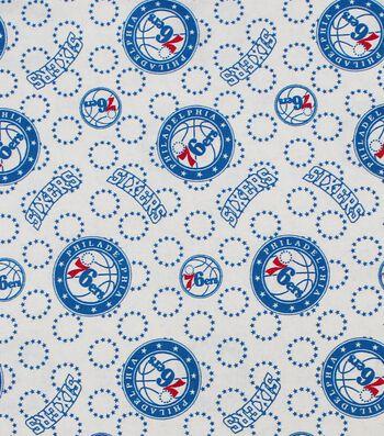 Philadelphia 76ers Cotton Fabric -Logo Toss