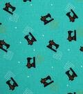 1930\u0027s Cotton Fabric 43\u0022-Sewing Machines Teal