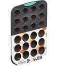 Silicone Mini Muffin Pan Gray & Mint-24 Cavity
