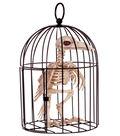 The Boneyard Halloween Crow Bone Decor in Cage