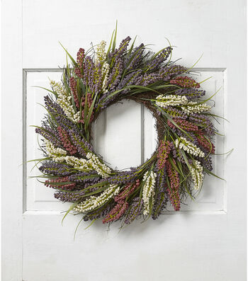 Fresh Picked Spring 20'' Heather Wreath-Multicolored