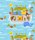 Snuggle Flannel Fabric -Noah\u0027s Ark