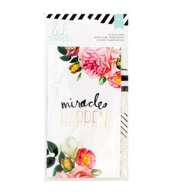 Heidi Swapp Personal Memory Planner Dividers 6/Pkg-Clear W/Printed Design