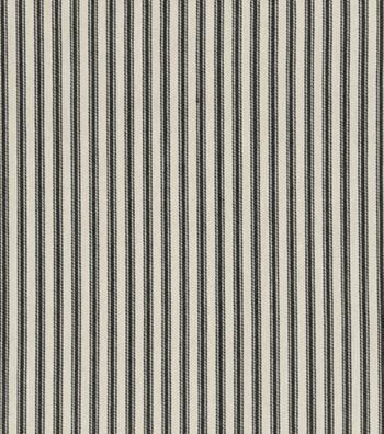 "Home Decor 8""x8"" Fabric Swatch-Waverly Timeless Ticking/Black"