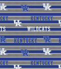 University of Kentucky Wildcats Cotton Fabric 44\u0022-Polo Stripe