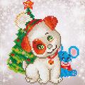 Diamond Dotz Diamond Embroidery Facet Art Kit 11\u0027\u0027X11.75\u0027\u0027-Christmas Pup