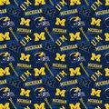 University of Michigan Wolverines Cotton Fabric-Tone on Tone