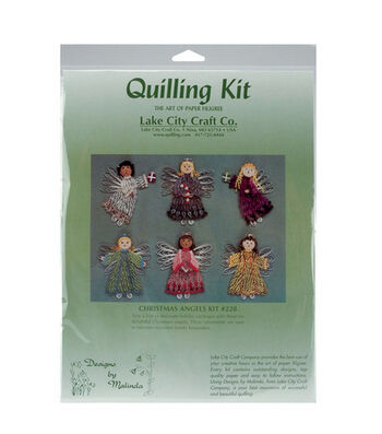 Lake City Craft Quilling Kit-6PK/Christmas Angels