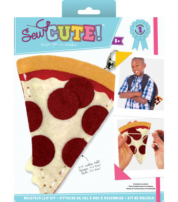 Sew Cute! Mini Pizza Backpack Clip Kit