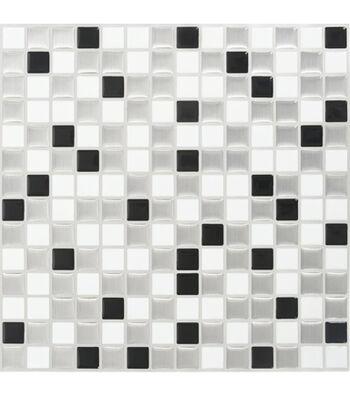 Peel & Impress 4pk-White/Steel Squares