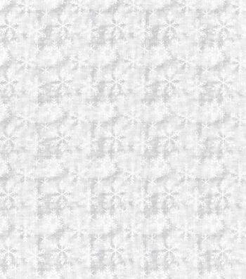 Christmas Cotton Fabric-Snowflake Texture White