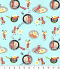 Novelty Cotton Fabric-Eggs and Bacon BFF