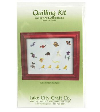 Quick & Easy Quilling Kit-Little Critters