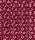 Christmas Cotton Fabric-Snowflake Texture Burgundy