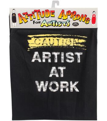 Attitude Artist Apron Black-Artist At Work