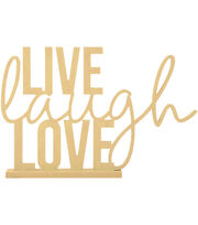Kaisercraft Beyond The Page MDF Phrase With Base-Live, Laugh, Love, , hi-res