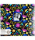 K&Company 12\u0027\u0027x12\u0027\u0027 Scrapbook with Window-Floral on Black