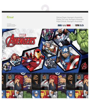Cricut 12 Pack 12''x12'' Marvel Avengers Assemble Deluxe Papers