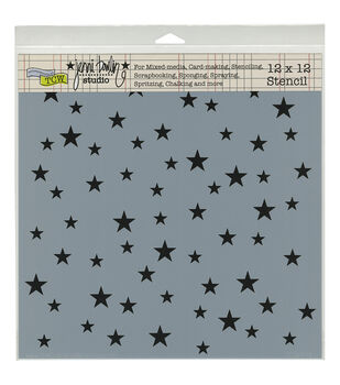 "Crafter's Workshop Template 12""X12""-Random Stars"