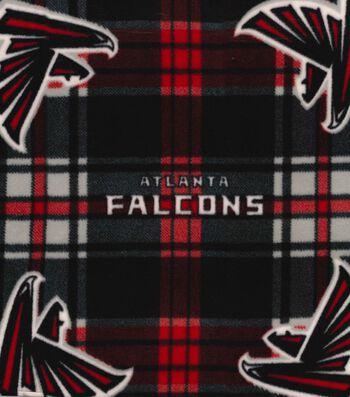 "Atlanta Falcons Fleece Fabric 58""-Plaid"