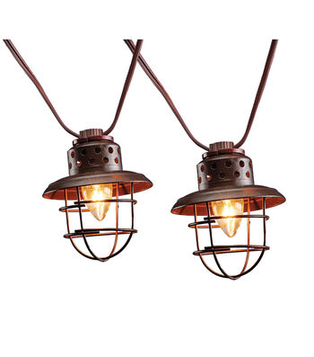 Camp Ann Caged Lantern String Lights