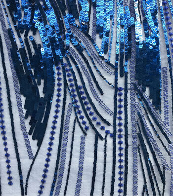 Gianna Linear Large Sequin Embroidered Fabric 56''
