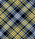 Snuggle Flannel Fabric -Kate Yellow & Navy Plaid
