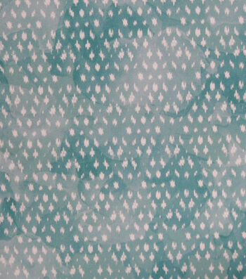 Stretch Chiffon Fabric 57''-Aqua Brushstrokes