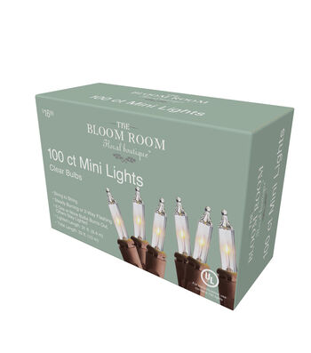 Bloom Room 100ct Incandescent Mini Lights-Clear Bulbs