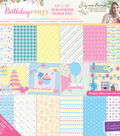 Single-Sided Paper Pad 12\u0022X12\u0022-Sara Davies Birthday Party