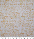 Keepsake Calico Glitter Cotton Fabric-Yellow Marble